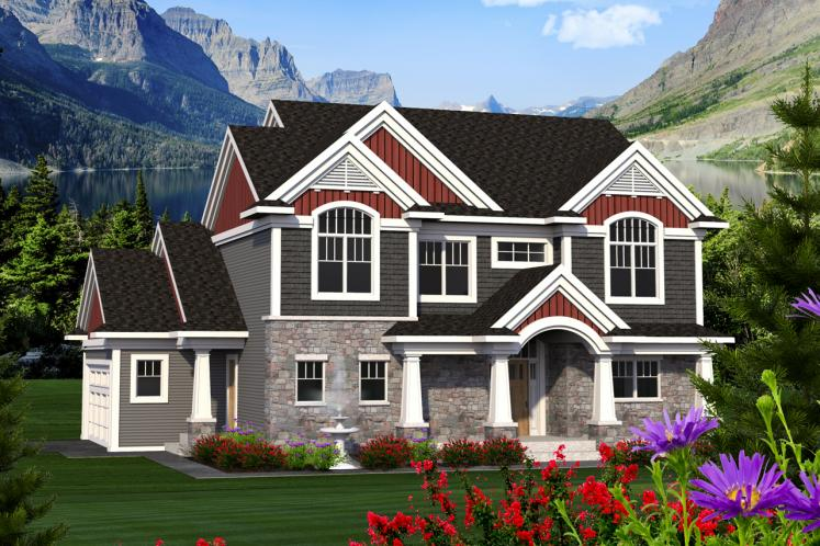Traditional House Plan -  69897 - Front Exterior