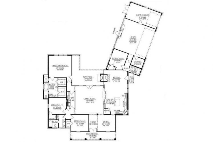 Classic House Plan - Fairview 69984 - 1st Floor Plan