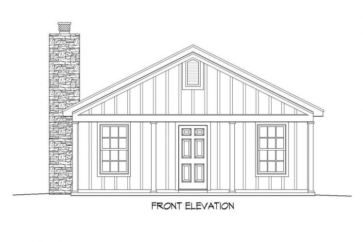 Lodge Style House Plan -  70012 - Front Exterior