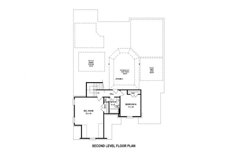 Southern House Plan -  70050 - 2nd Floor Plan