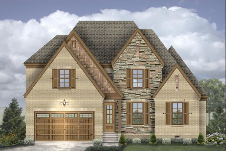 European House Plan -  70050 - Front Exterior
