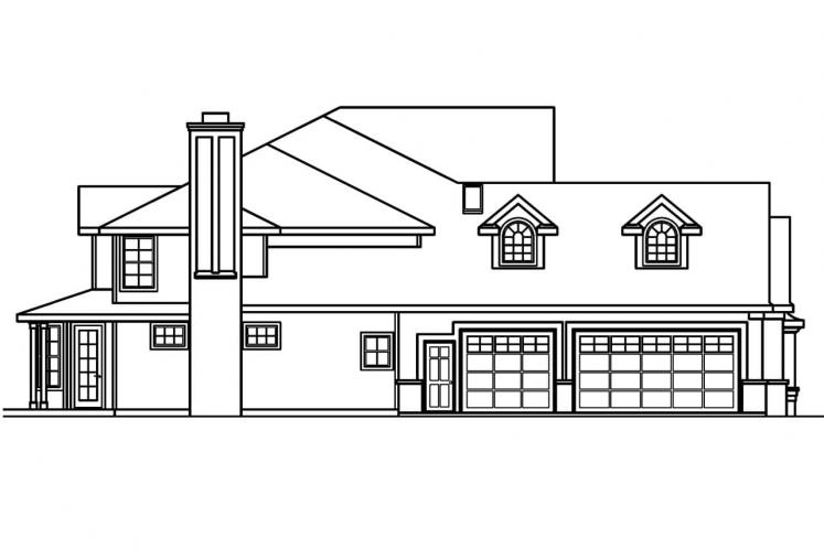 Tudor House Plan - Bellingham 70051 - Left Exterior