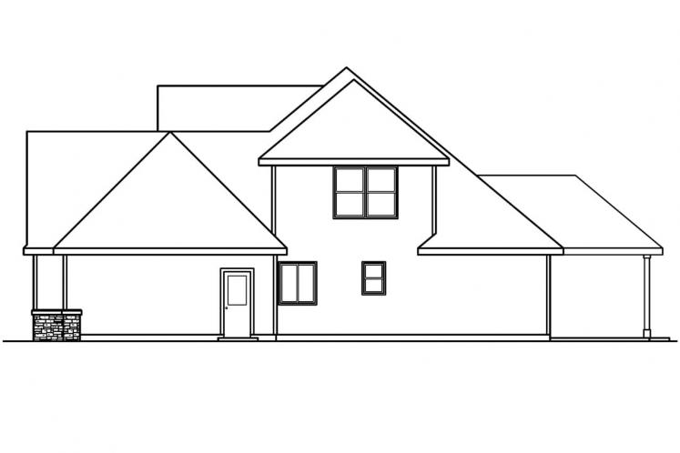 Country House Plan - Whitehaven 70055 - Right Exterior