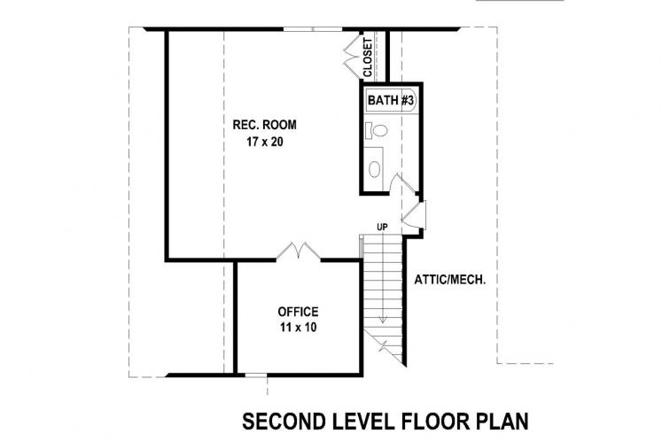 Southern House Plan -  70084 - 2nd Floor Plan