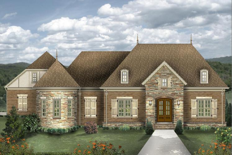 Colonial House Plan -  70084 - Front Exterior