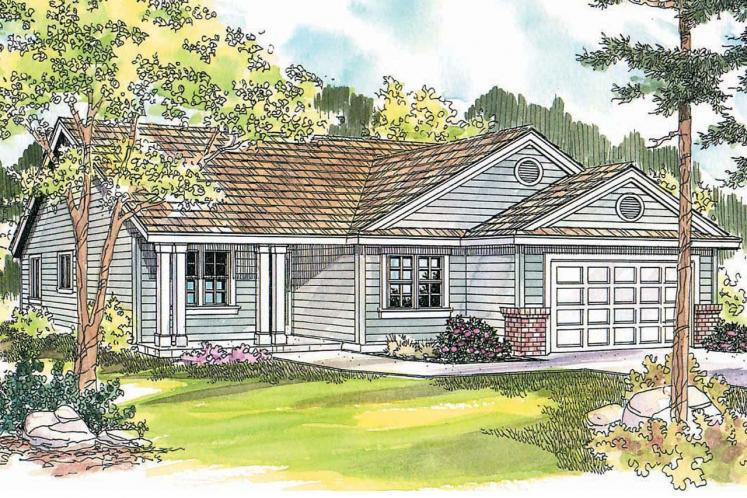 Ranch House Plan - Chapman 70135 - Front Exterior