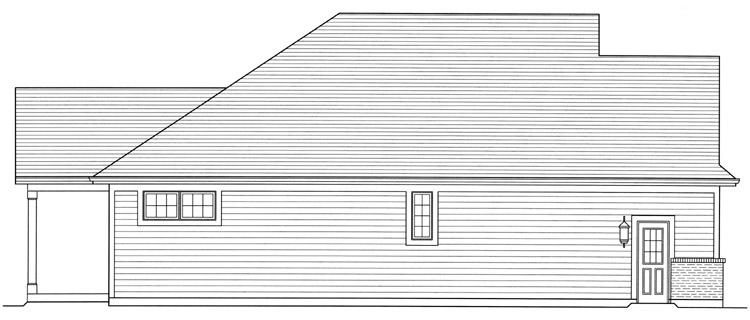 Ranch House Plan - The Turnberry 70153 - Left Exterior