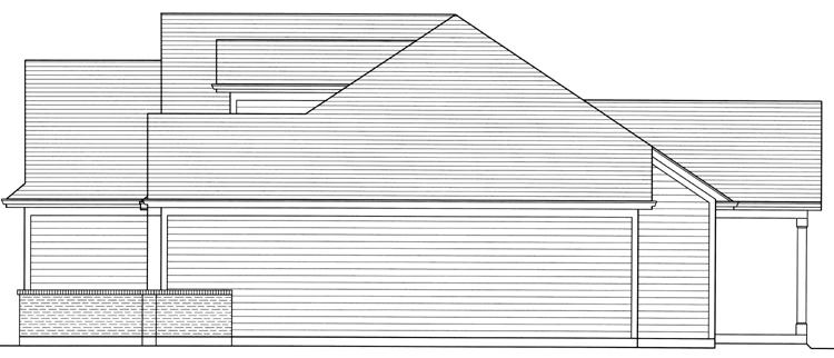 Country House Plan - The Turnberry 70153 - Right Exterior