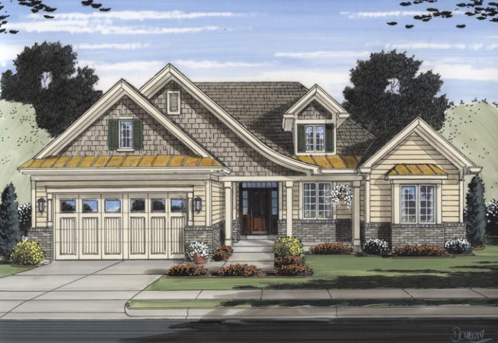 Country House Plan - The Turnberry 70153 - Front Exterior