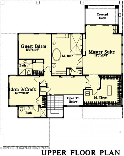 Craftsman House Plan -  70183 - 2nd Floor Plan