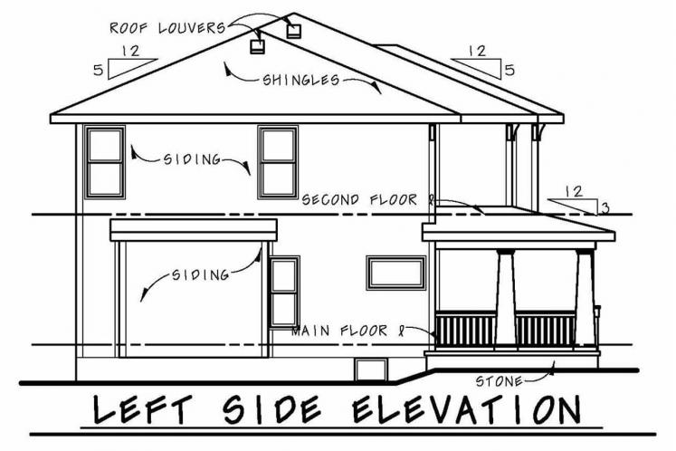 Cottage House Plan - Collinswood 70307 - Left Exterior