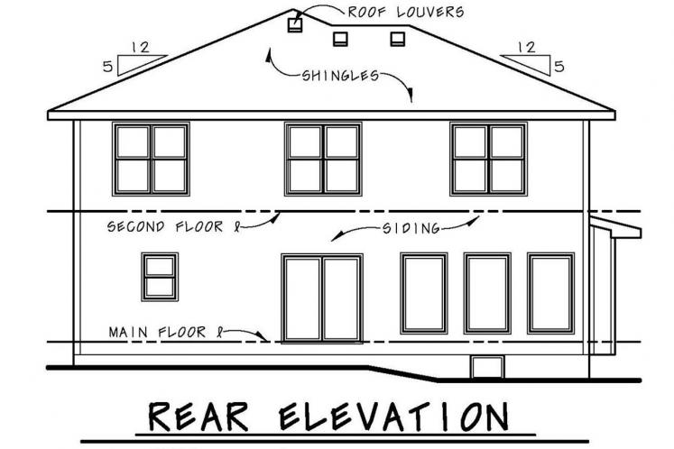 Cape Cod House Plan - Collinswood 70307 - Rear Exterior