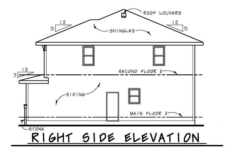 Craftsman House Plan - Collinswood 70307 - Right Exterior