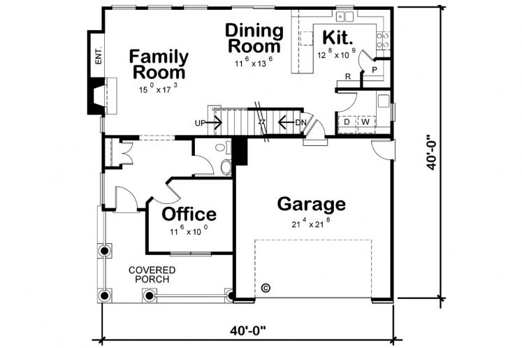 Cape Cod House Plan - Collinswood 70307 - 1st Floor Plan