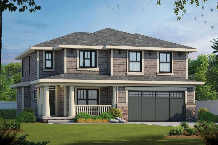 Craftsman House Plan - Collinswood 70307 - Front Exterior