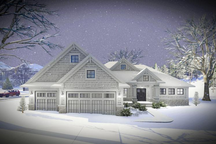 Ranch House Plan -  70447 - Front Exterior