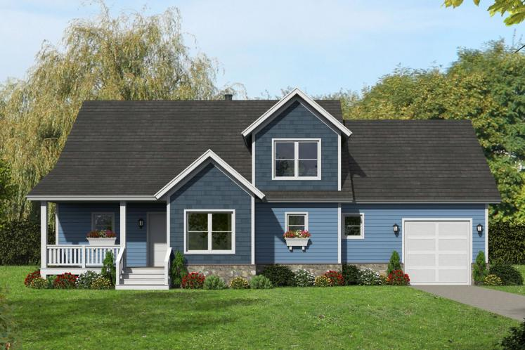 Country House Plan - Black Mountain 70498 - Front Exterior