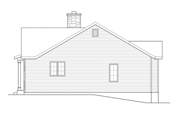 Bungalow House Plan -  70552 - Right Exterior