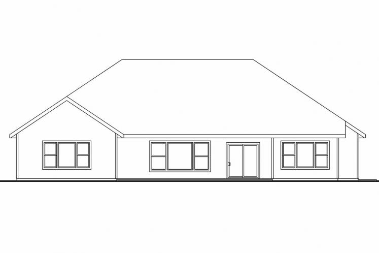 Cottage House Plan - Dalneigh 70602 - Rear Exterior
