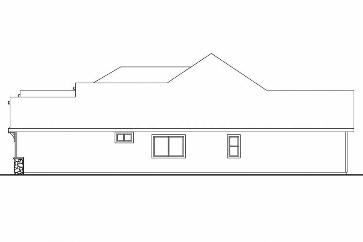 Ranch House Plan - Dalneigh 70602 - Right Exterior