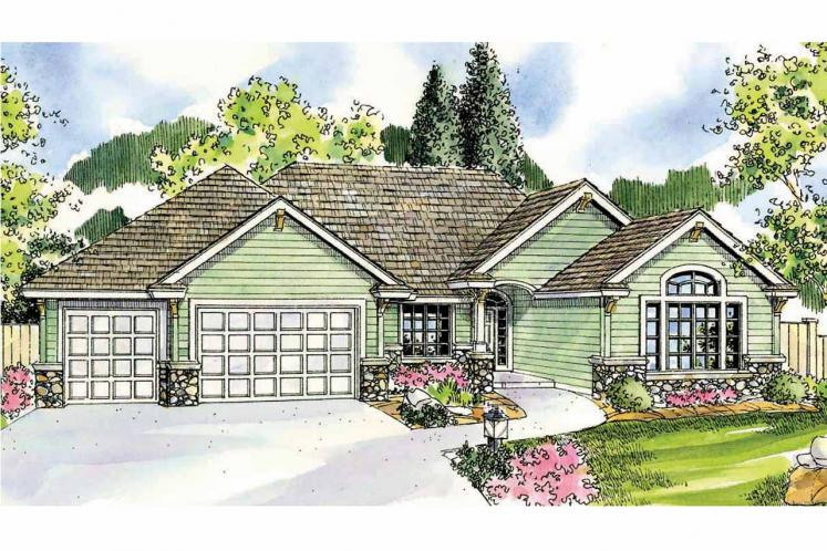 Ranch House Plan - Dalneigh 70602 - Front Exterior
