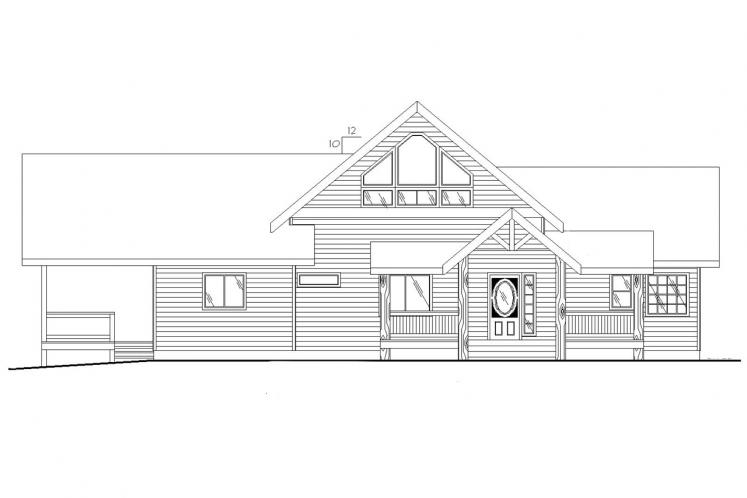 Craftsman House Plan -  70649 - Front Exterior