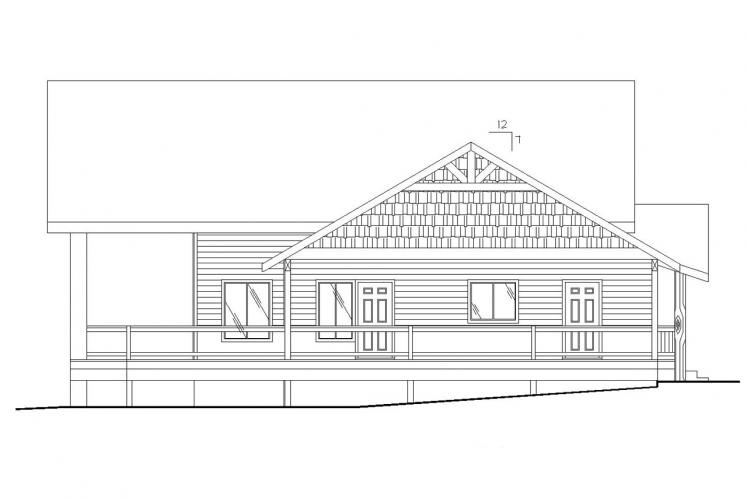 Country House Plan -  70649 - Left Exterior