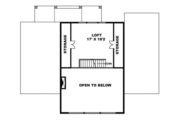 Country House Plan -  70649 - 2nd Floor Plan