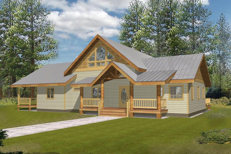 Country House Plan -  70649 - Front Exterior