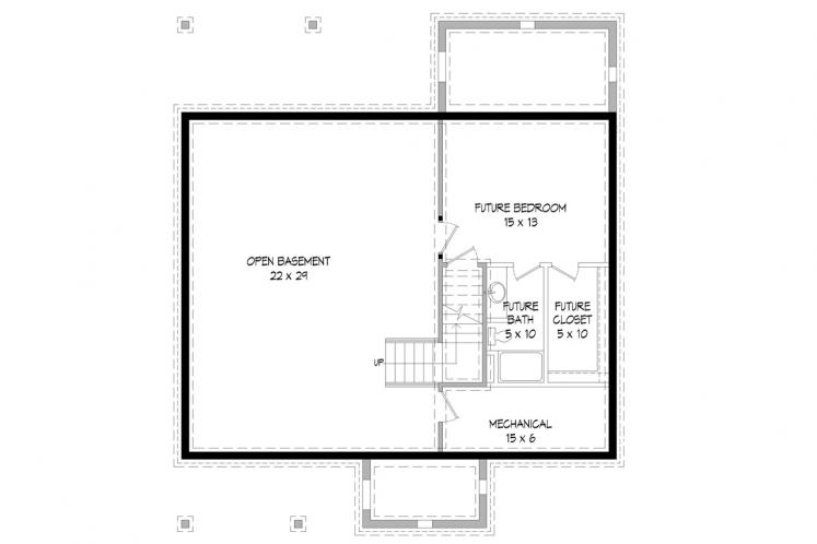 Country House Plan -  70684 - Basement Floor Plan