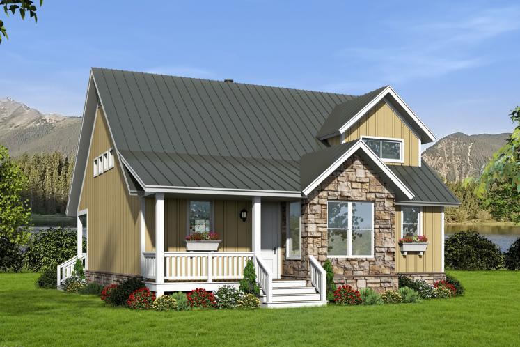 Cottage House Plan -  70684 - Front Exterior