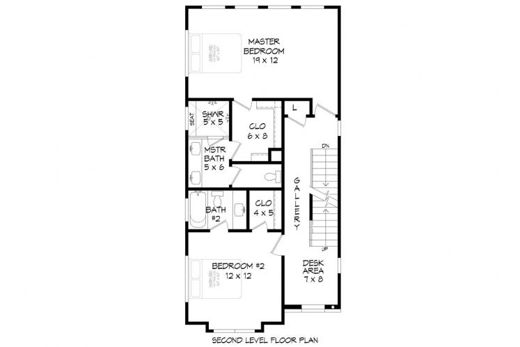 Contemporary House Plan - Shepard 70685 - 2nd Floor Plan