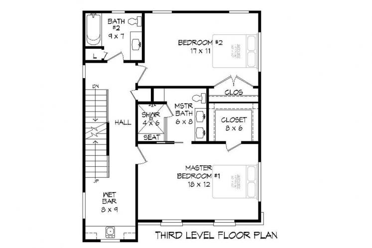 Modern House Plan - Claiborne 70764 - Other Floor Plan