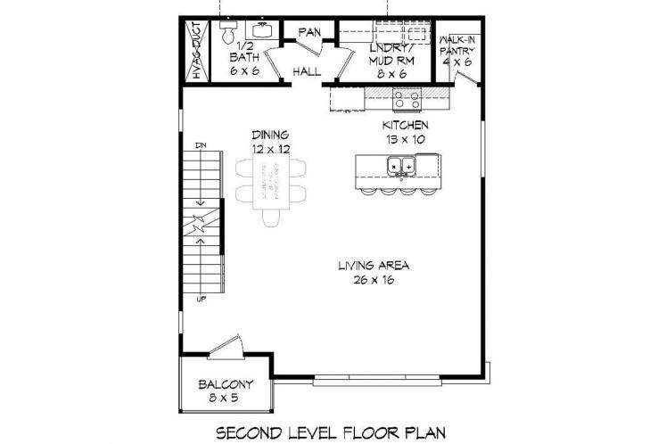 Contemporary House Plan - Claiborne 70764 - 2nd Floor Plan