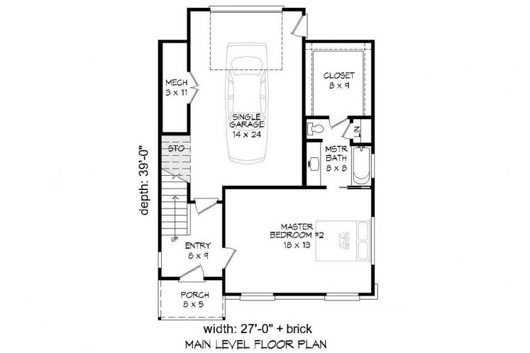 Modern House Plan - Claiborne 70764 - 1st Floor Plan