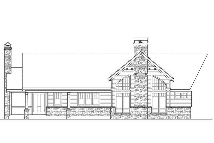 Country House Plan - Nottingham 70768 - Rear Exterior