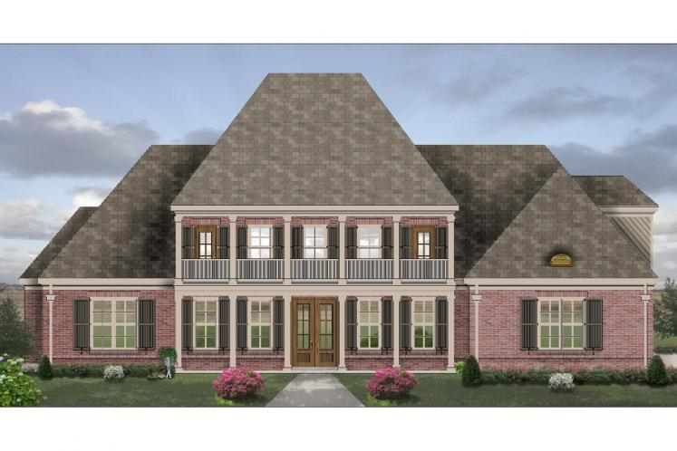 Colonial House Plan -  70790 - Front Exterior