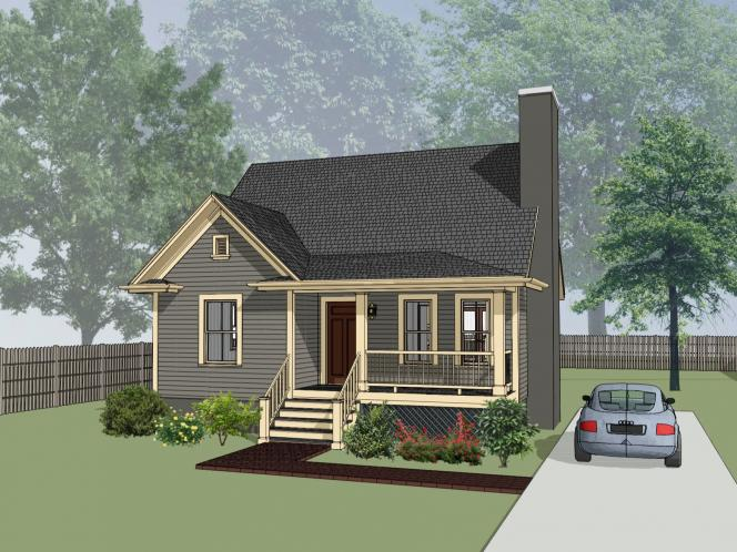 Cottage House Plan -  70976 - Front Exterior
