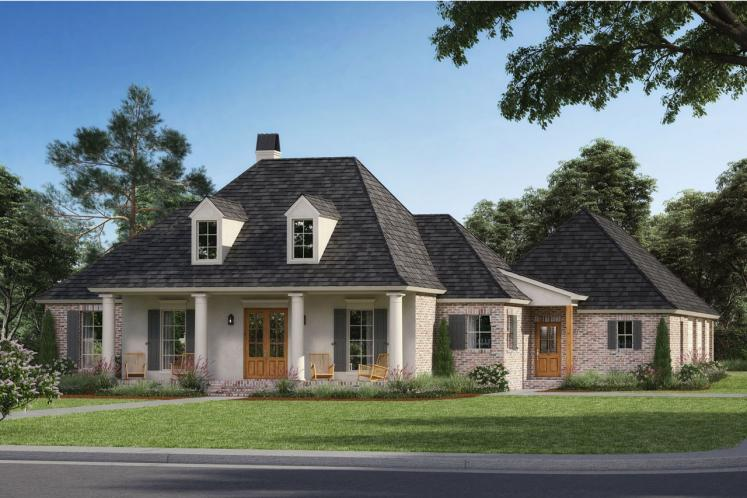 Southern House Plan - Crepe Myrtle 70983 - Front Exterior