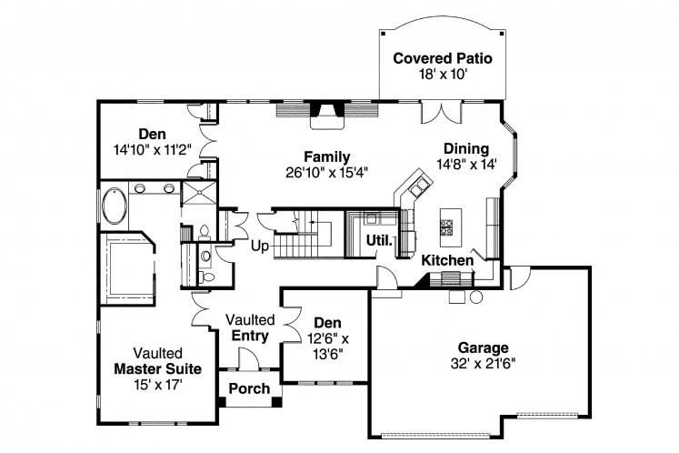 Country House Plan - Remmington 71026 - 1st Floor Plan