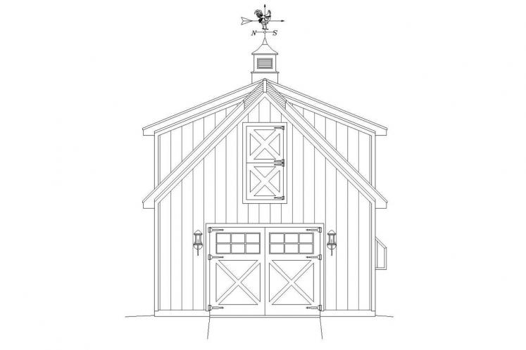 Country Garage Plan -  71126 - Front Exterior