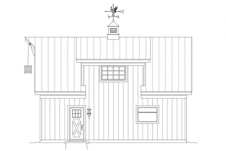 Country Garage Plan -  71126 - Right Exterior