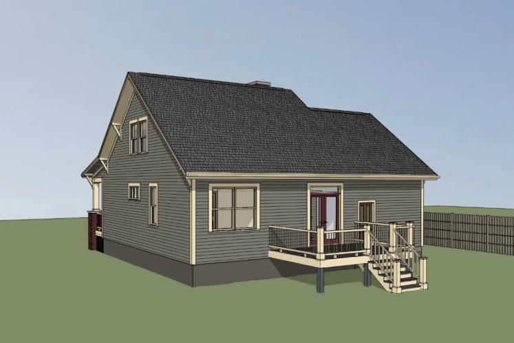 Country House Plan -  71129 - Right Exterior