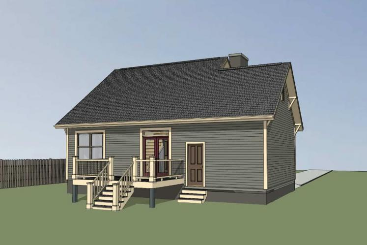 Cottage House Plan -  71129 - Left Exterior