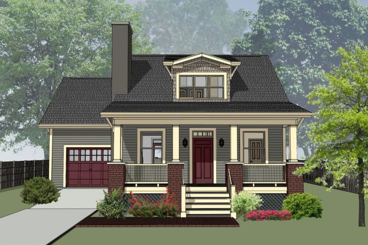 Bungalow House Plan -  71129 - Front Exterior