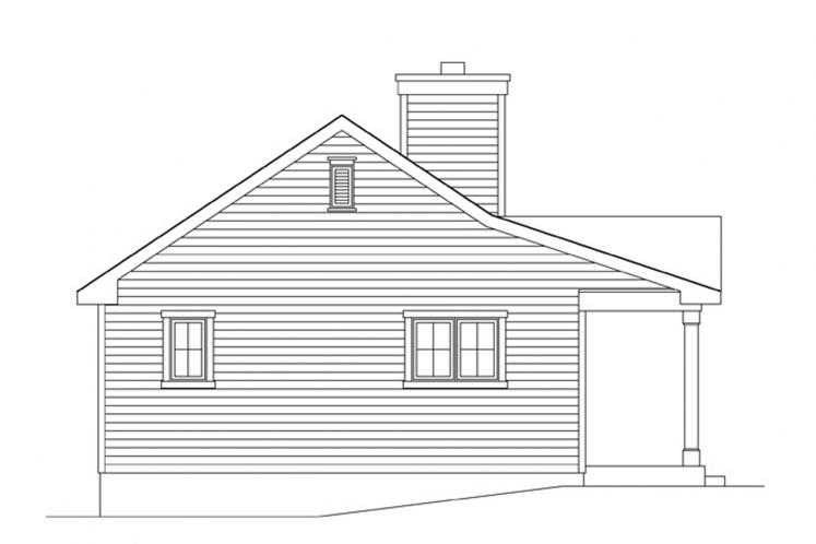 Traditional House Plan -  71212 - Left Exterior