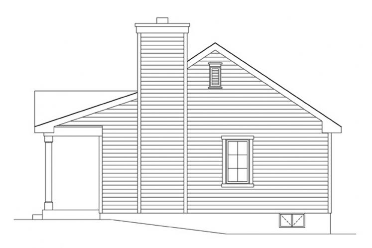 Cottage House Plan -  71212 - Right Exterior