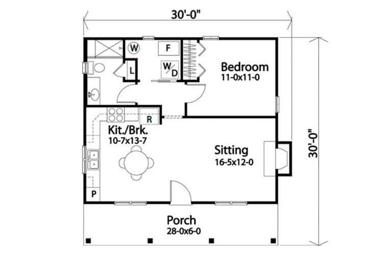 Country House Plan -  71212 - 1st Floor Plan