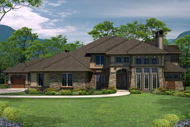 Lodge Style House Plan -  71396 - Front Exterior