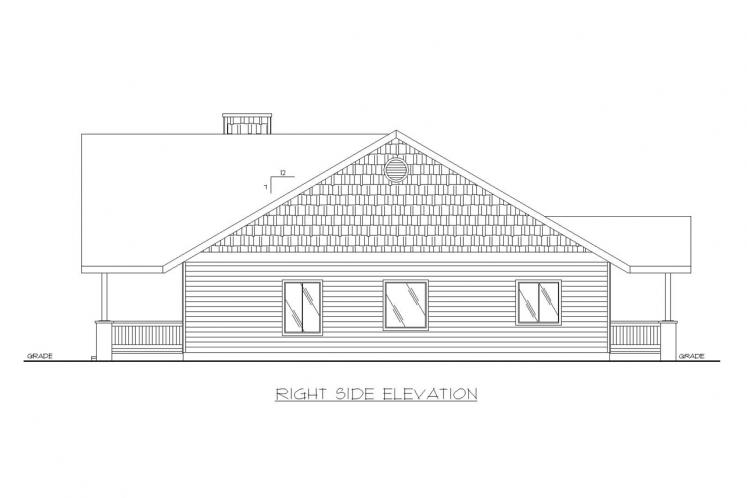 Cottage House Plan -  71439 - Right Exterior